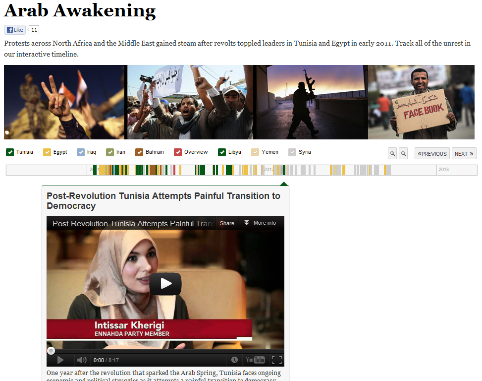 "PBS uses TimelineSetter to document the ""Arab Spring"""