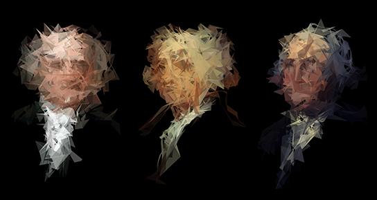 Dead Presidents - Generative Portraits with Processing & Processing.js