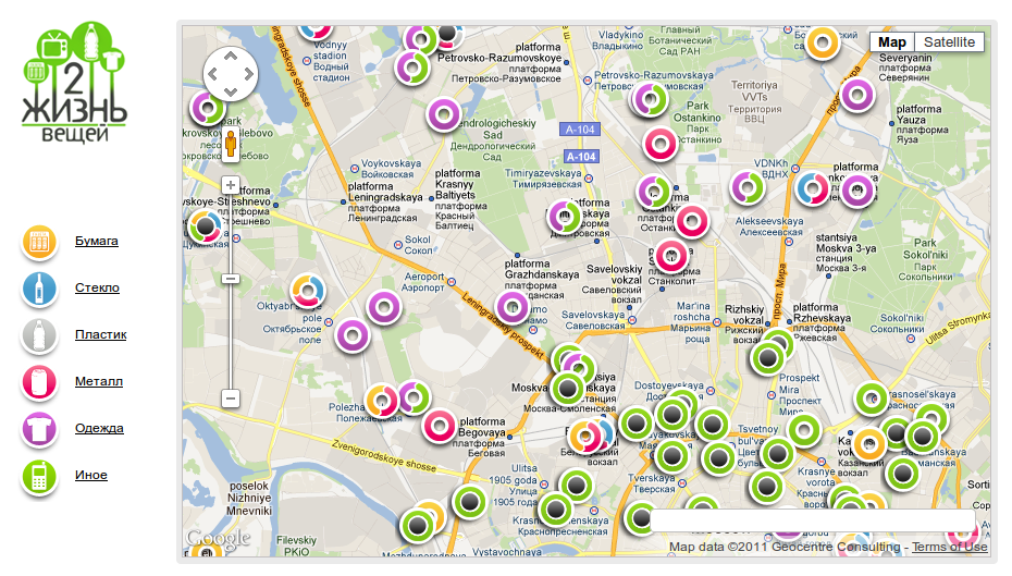 Greenpeace recycle map