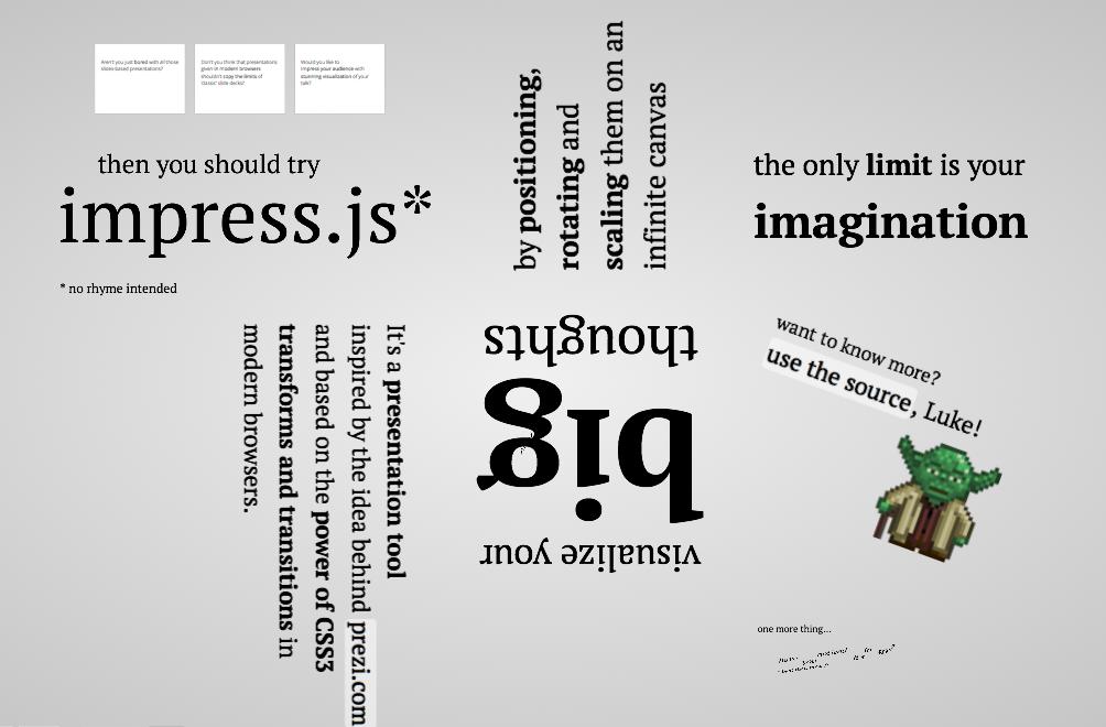 Impress.js presentation