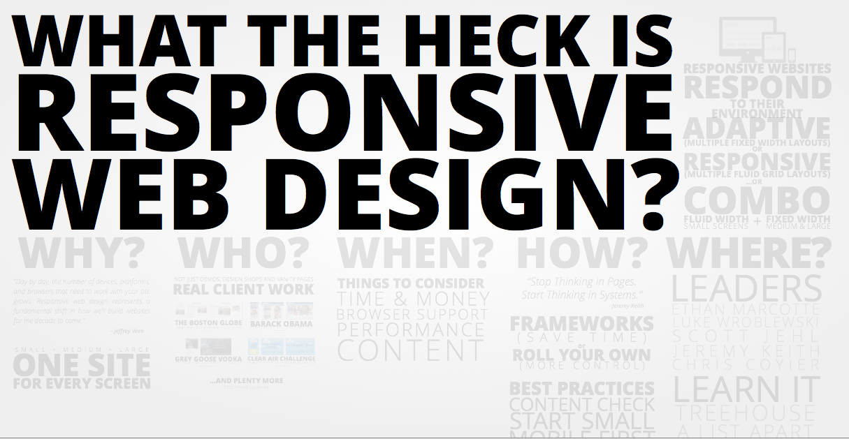 'What the heck is responsive design?' presentation