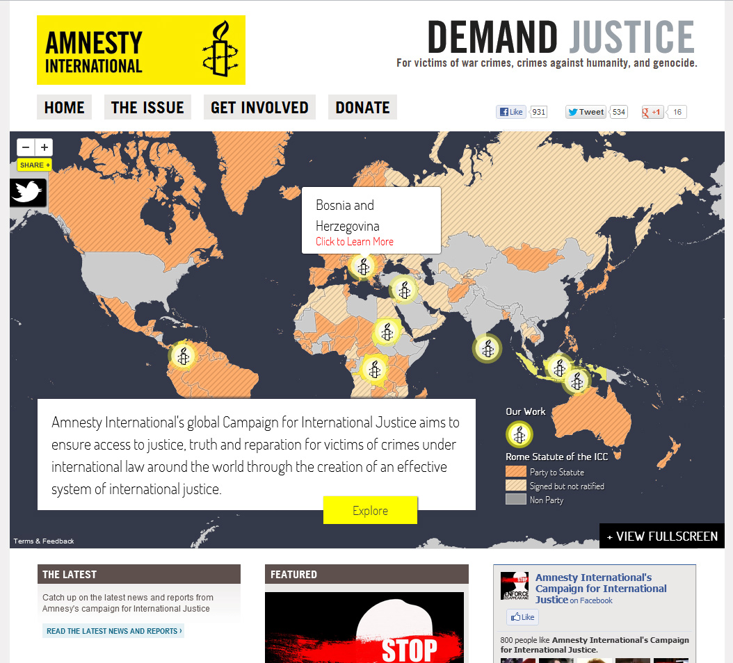 Amnesty has used TileMill for one of their recent campaigns